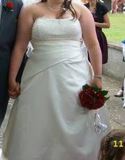 Ivory wedding dress size uk 22