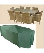 Rectangular 6 Seater Patio Set Waterproof Protective Cover C530